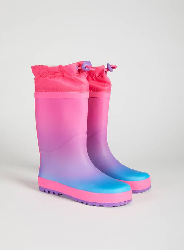 Pink Ombre Wellies - 10 Infant