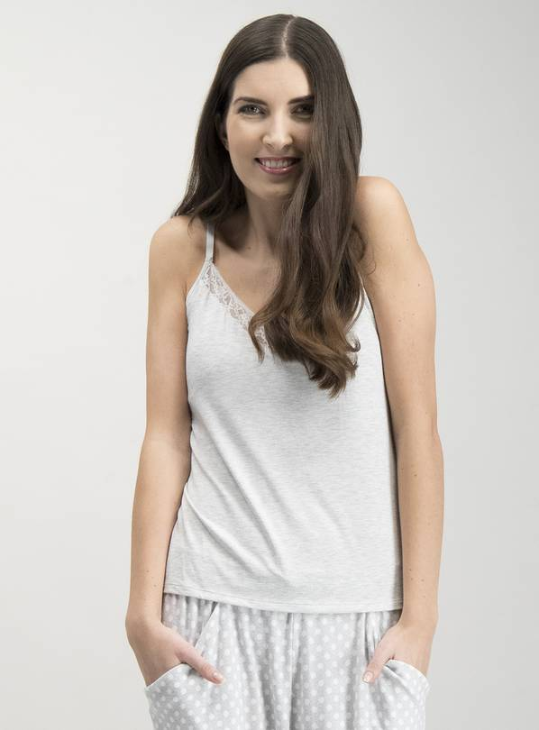 Light Grey Marl Padded Camisole - 14
