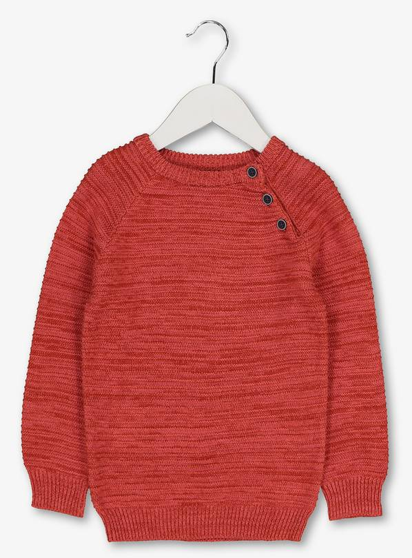 Orange Crew Knit Jumper - 2-3 years