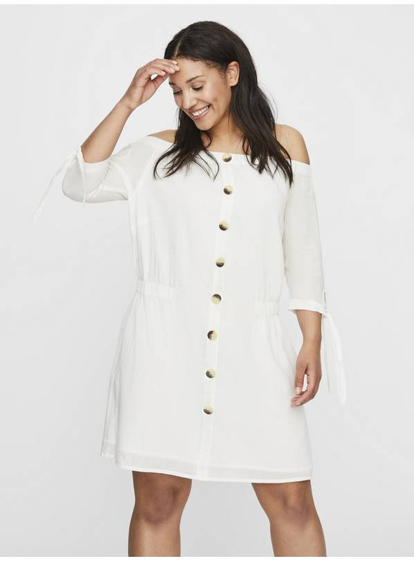 JUNAROSE White Bardot Dress - 20