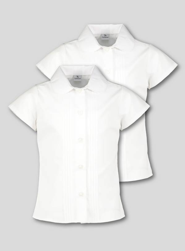 White Pintuck Blouses 2 Pack - 8 years