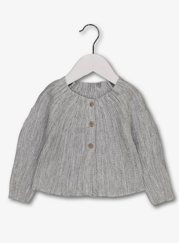 Grey Nordic-Style Cardigan - 12-18 months