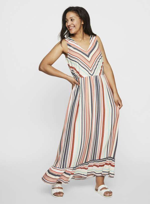 JUNAROSE Stripe Maxi Dress - 24