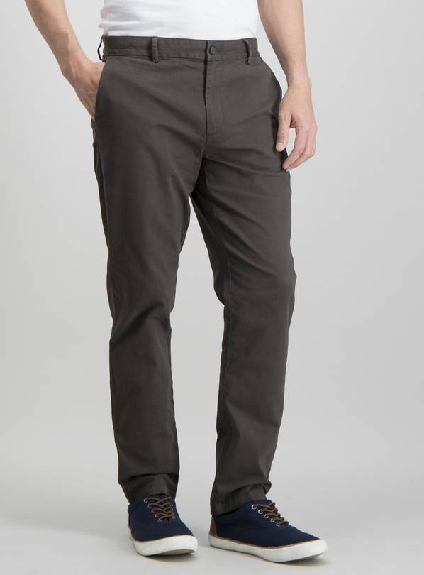 Online Exclusive Brown Slim Fit With Stretch Chinos - W34 L3