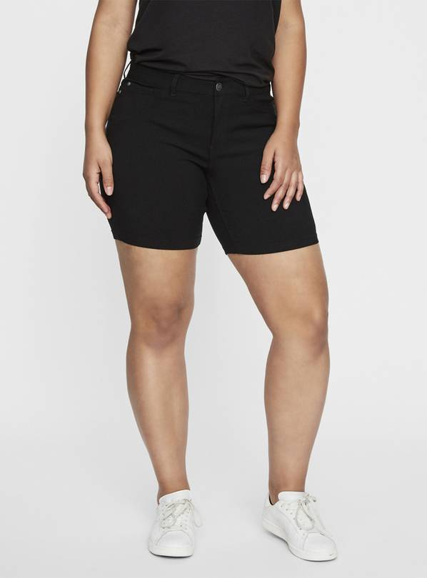 Black Slim Fit Shorts - 28