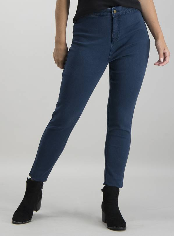 PETITE Dark Denim High Waisted Skinny Jeans - 18