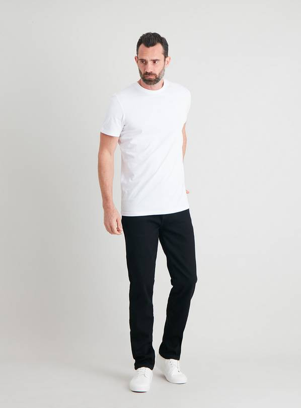 Black Slim Fit Ultimate Comfort Jeans With Stretch - W44 L32