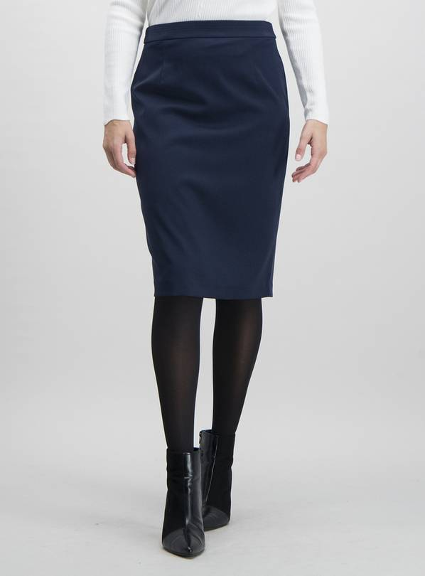 Navy Pencil Skirt - 12