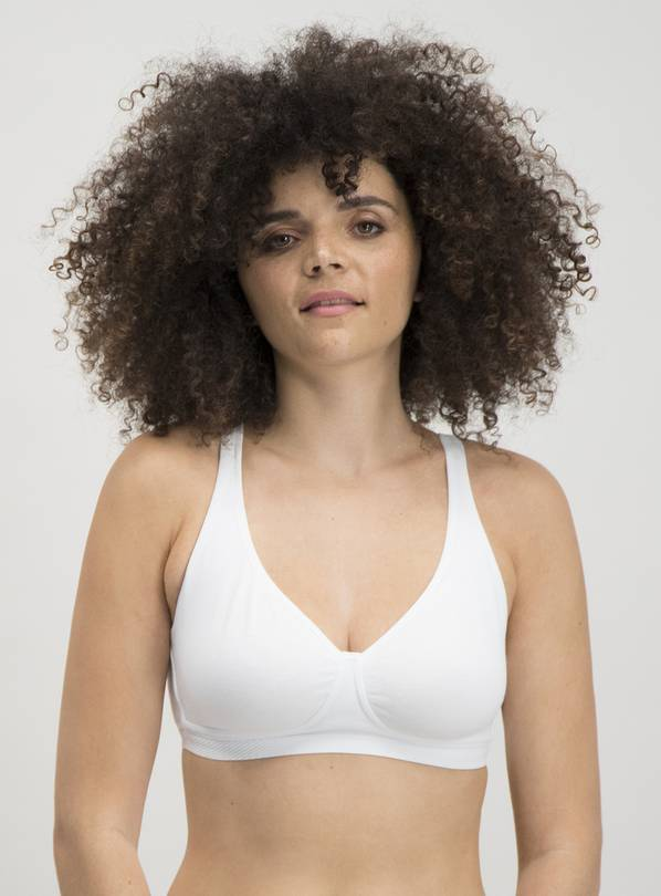 Black & White Non-Wired Comfort Lounge Bra 2 Pack - 34C