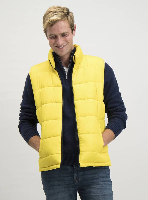 Yellow Eco Thermolite Shower Resistant Gilet - M