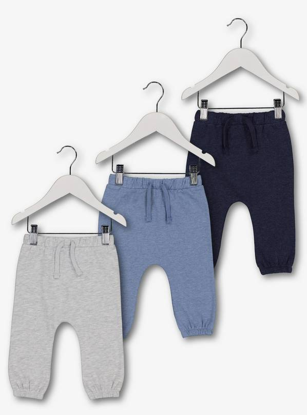 Navy & Grey Jogger 3 Pack - 3-6 months