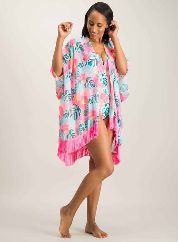 d206d7035 Buy Mini Me Multicoloured Tropical Floral Kimono - One Size ...