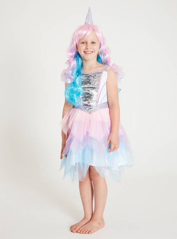 Mini Me Multicoloured Unicorn Costume - 7-8 years