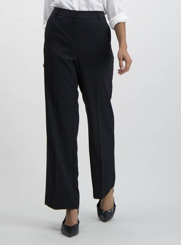 Black Wide Leg Trousers - 16R