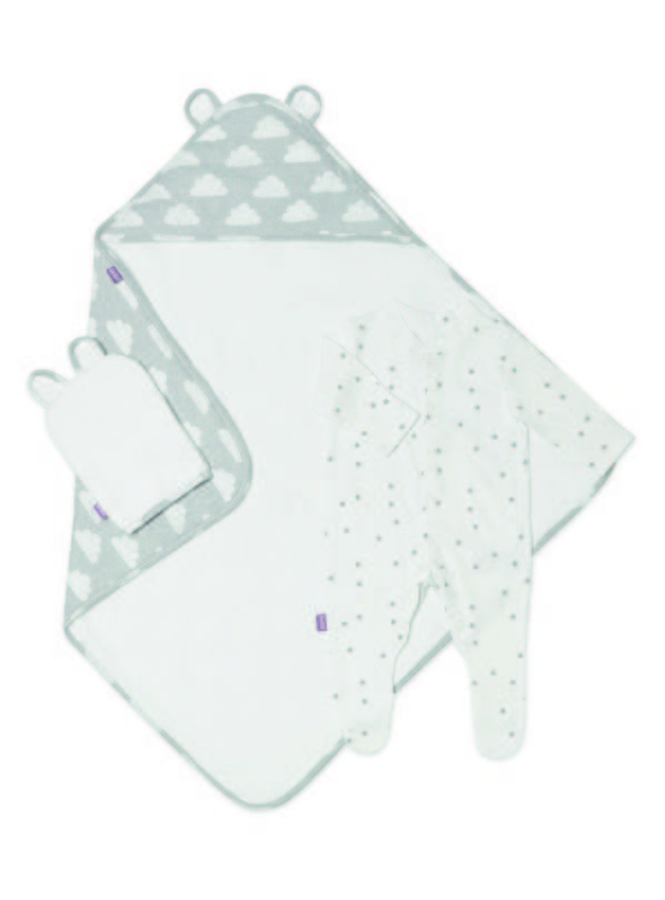 Online Exclusive SNÜZ Grey Cloud Baby Set - Up to 3 mths
