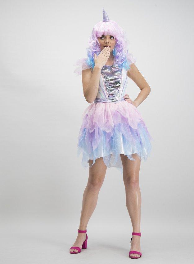 Mini Me Multicoloured Unicorn Costume (Size 8-22)