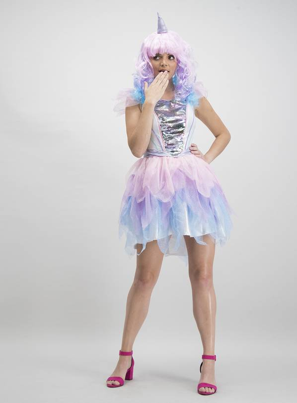 Mini Me Multicoloured Unicorn Costume - 8-10