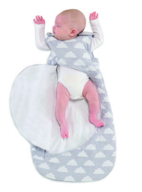 Online Exclusive SNÜZ Grey Cloud Sleep Bag - 0-6 Month