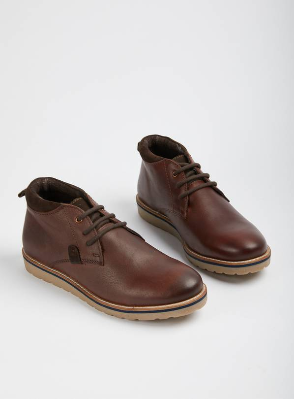 Sole Comfort Brown Leather Chukka Boots - 10