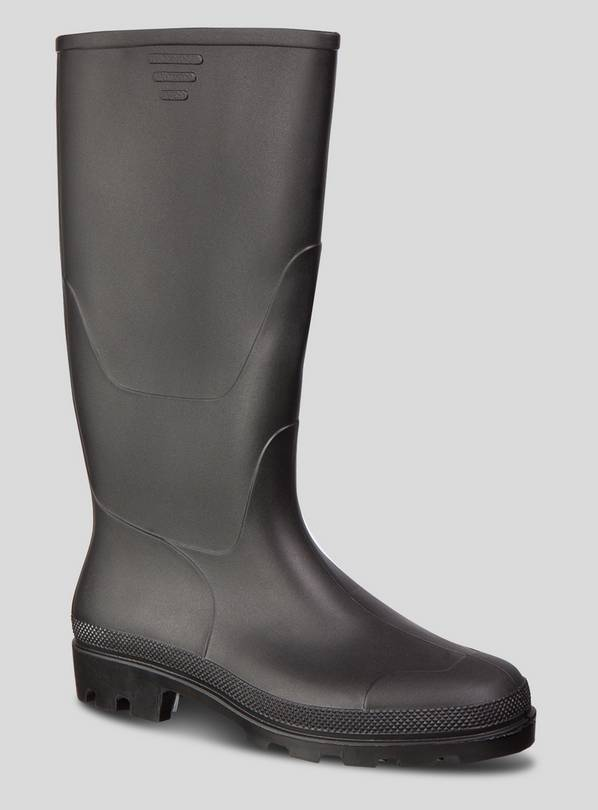 Black Plain Wellies - 10