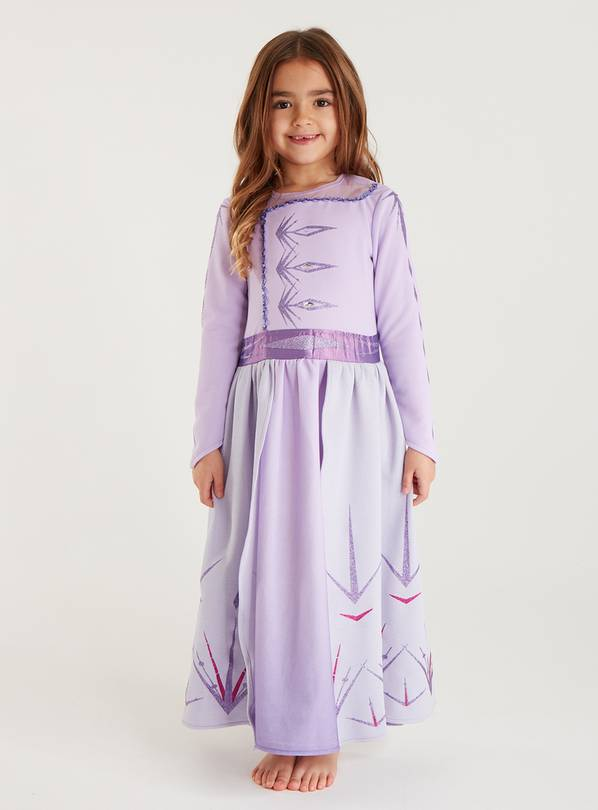 Disney Frozen 2 Elsa Lilac Dress - 5-6 years