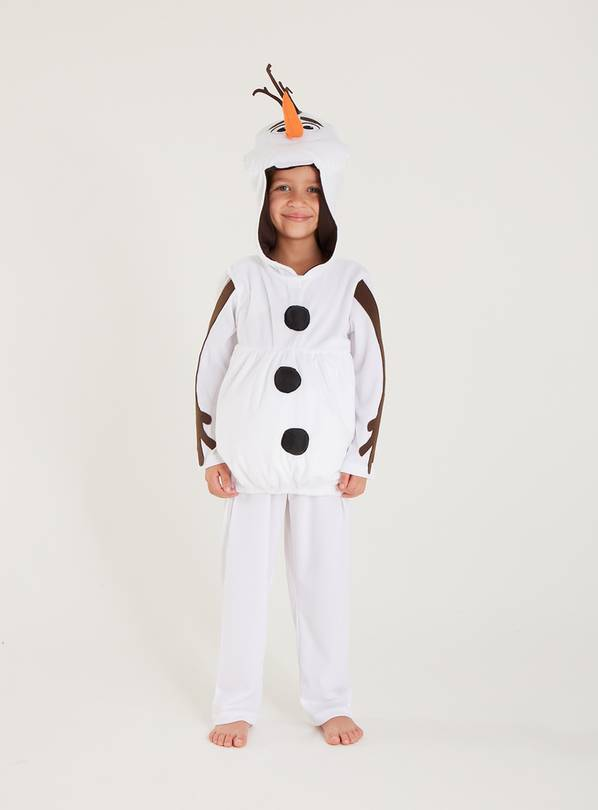 Disney Frozen Olaf White Costume - 7-8 years