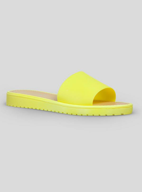 Yellow Open Toe Mule Sandals - 7