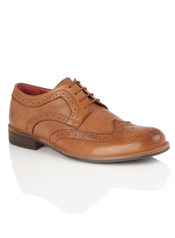 temperament shoes sneakers on feet at Buy SILVER STREET Tan Lace-Up Brogues - 7 | Formal shoes | Argos