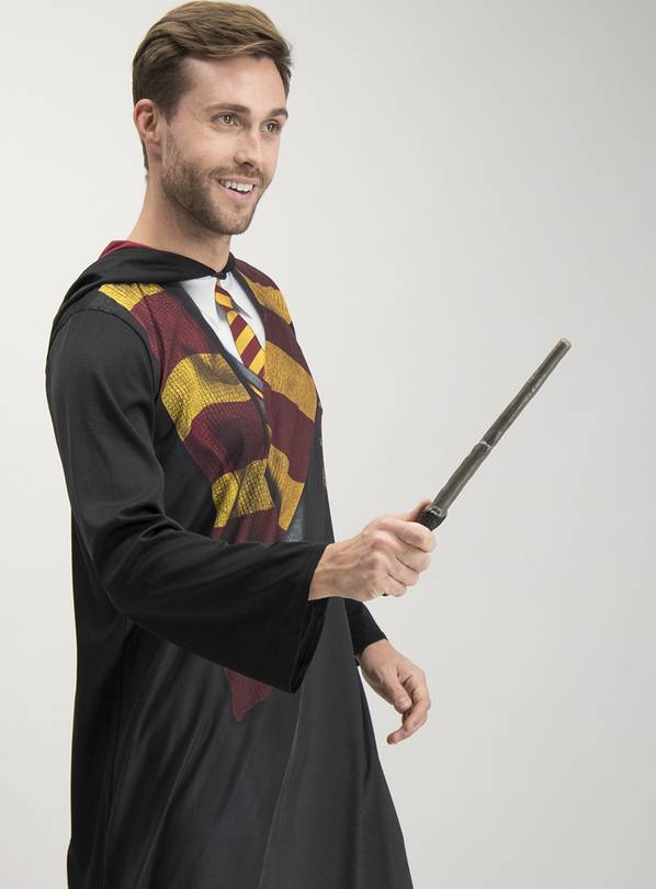 Harry Potter Black Gryffindor Robe & Wand - L/XL