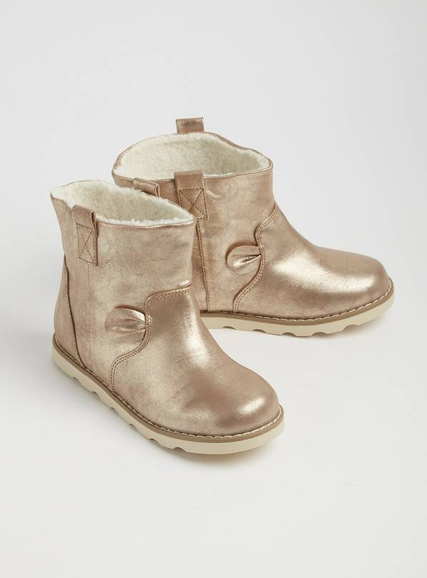 Gold Metallic Novelty Boots - 5 Infant