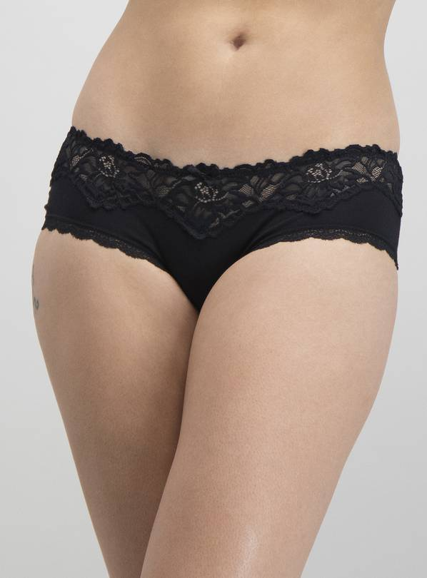 Black Lace Knicker Shorts 3 Pack - 14