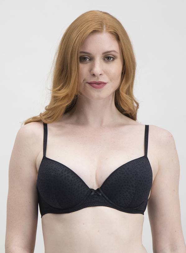 Black Daisy Lace Supersoft Plunge Bra - 34D