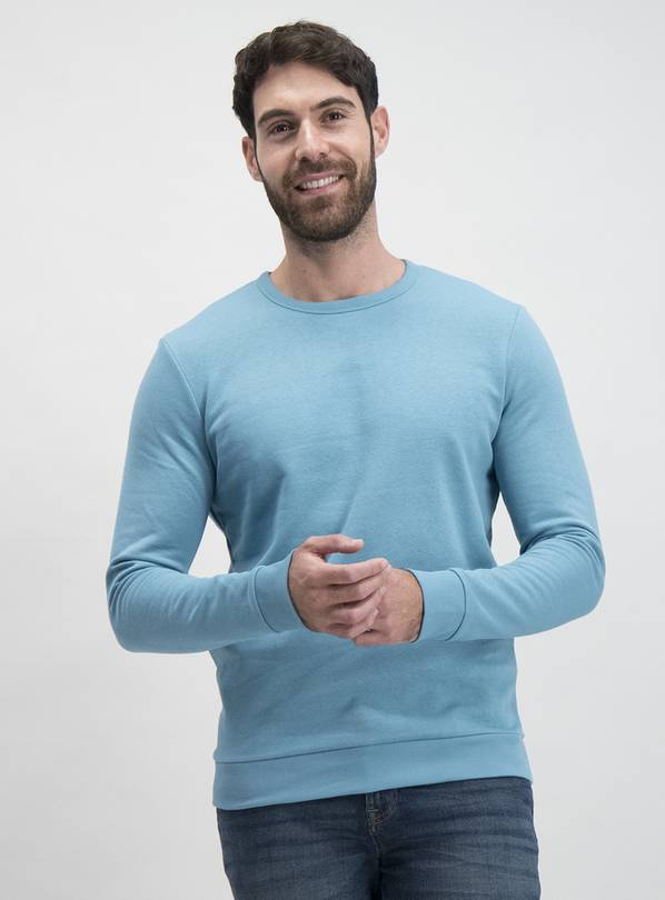 Aqua Blue Crew Neck Sweatshirt - XXXL