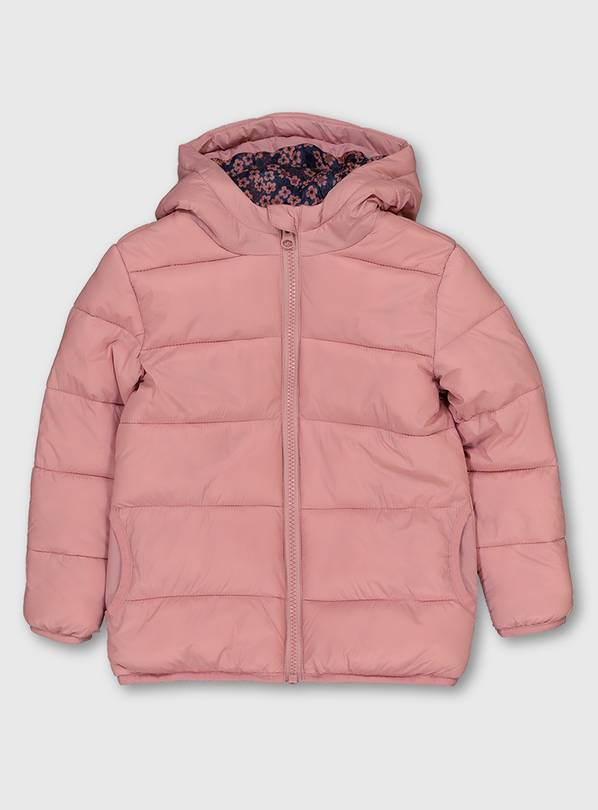Pink Padded Coat - 4-5 years