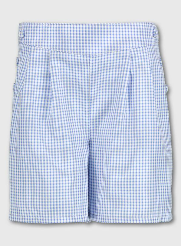 Blue Gingham School Culottes - 14 years