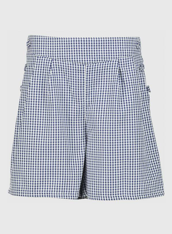 Navy Gingham School Culottes - 9 years