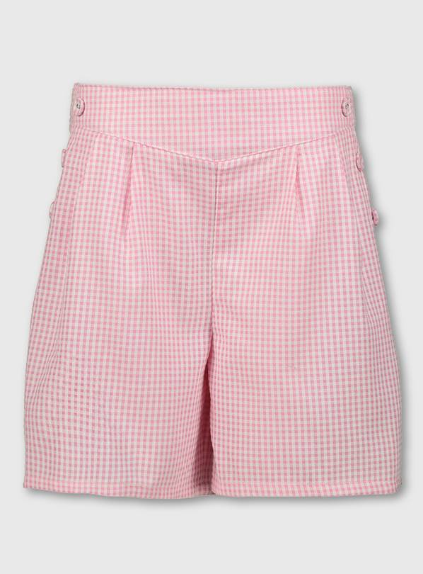 Pink Gingham School Culottes - 13 years
