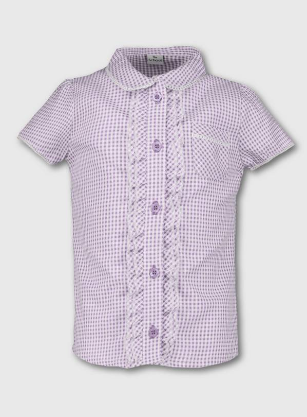 Lilac Gingham School Blouse - 12 years