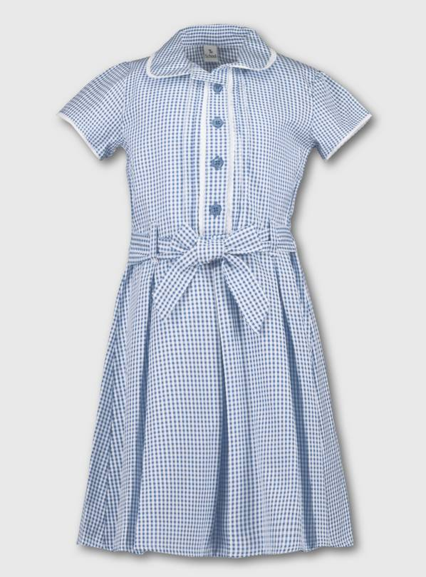 Blue Classic Gingham School Dress - 12 years