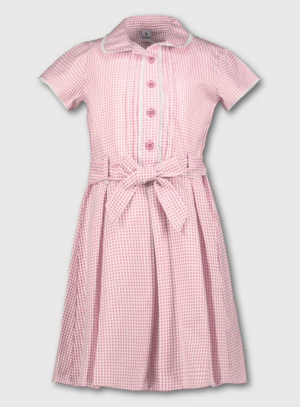 Pink Classic Gingham School Dress - 7 years