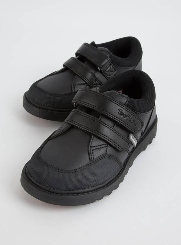 TOEZONE Black Leather Smart Trainer - 10 Infant