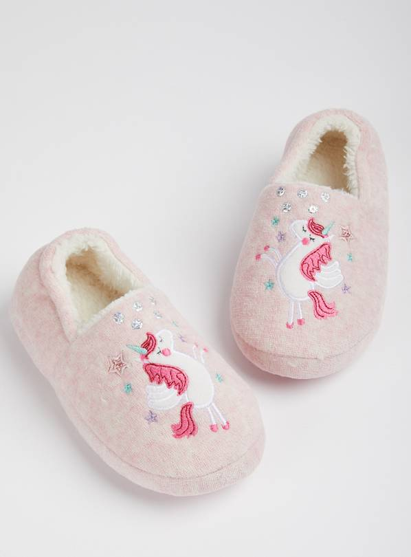 Pink Unicorn Full Slippers - 12-13 Infant