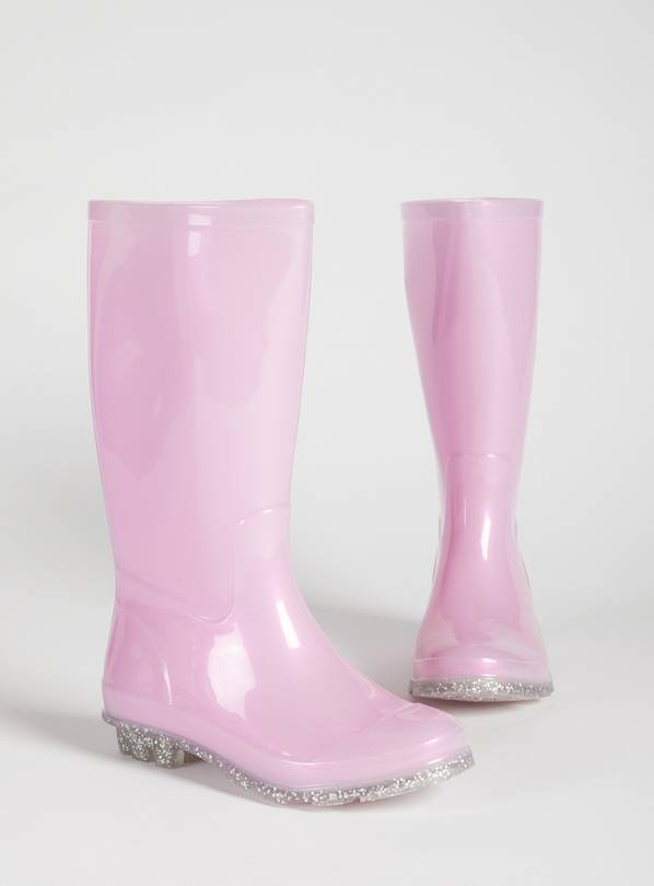 Pink Pearlescent Wellies - 10 Infant