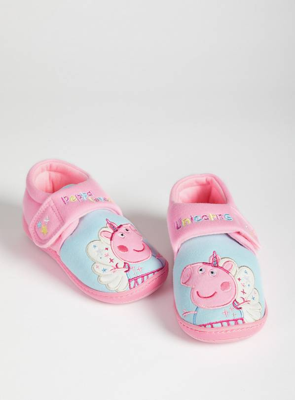 Peppa Pig Pink Slippers - 10-11 Infant