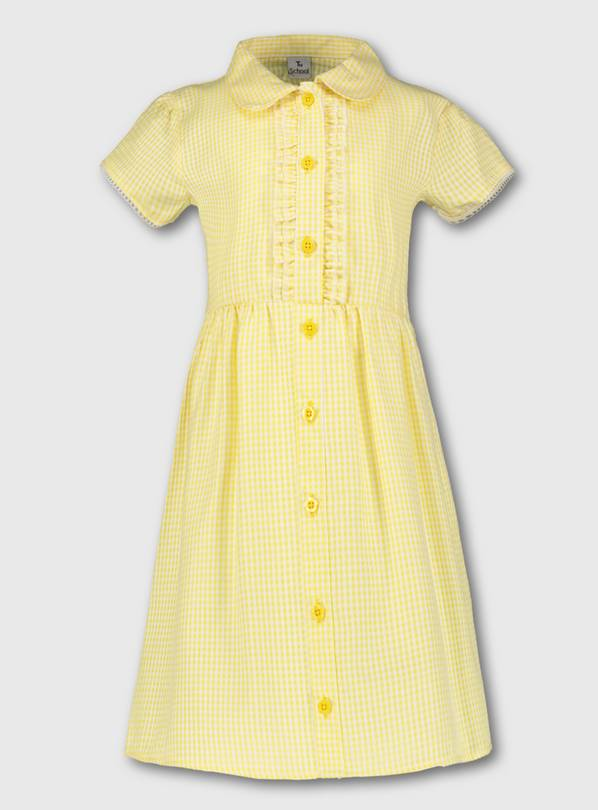 Yellow Plus Fit Gingham School Dress - 3 years