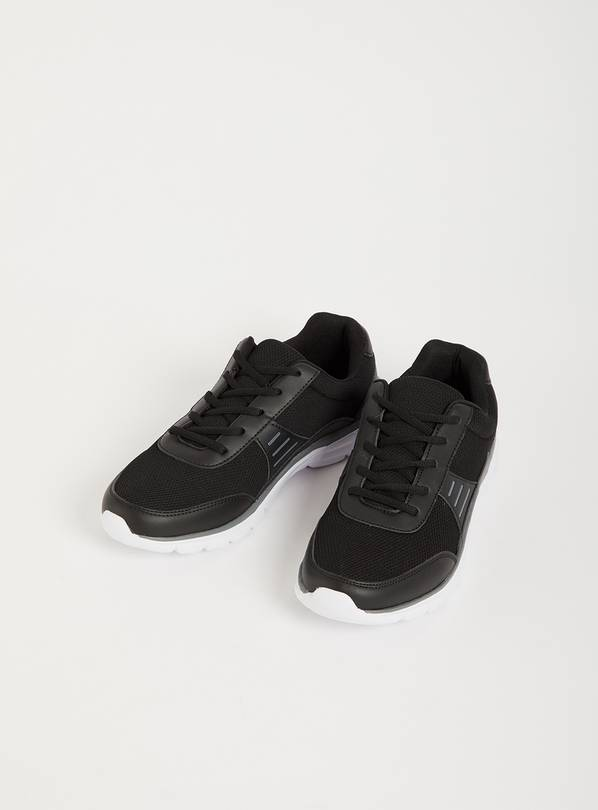 Black Mesh Panel Active Trainers - 7