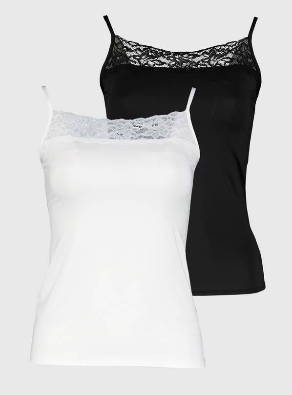 White & Black Cami Top 2 Pack - 18