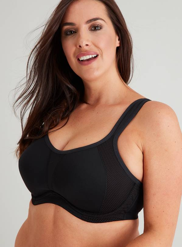 Active DD+ Black High Impact Flexiwire Sports Bra - 32F