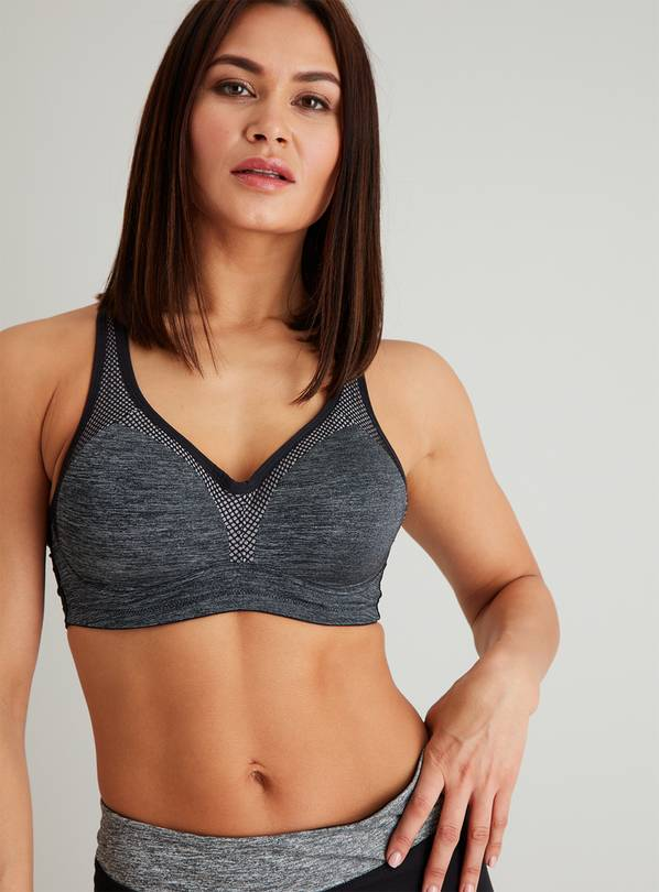 Active Grey Underwired High Impact Sports Bra - 42DD
