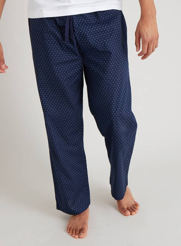 Navy Geo Print Pyjama Bottoms - XXL